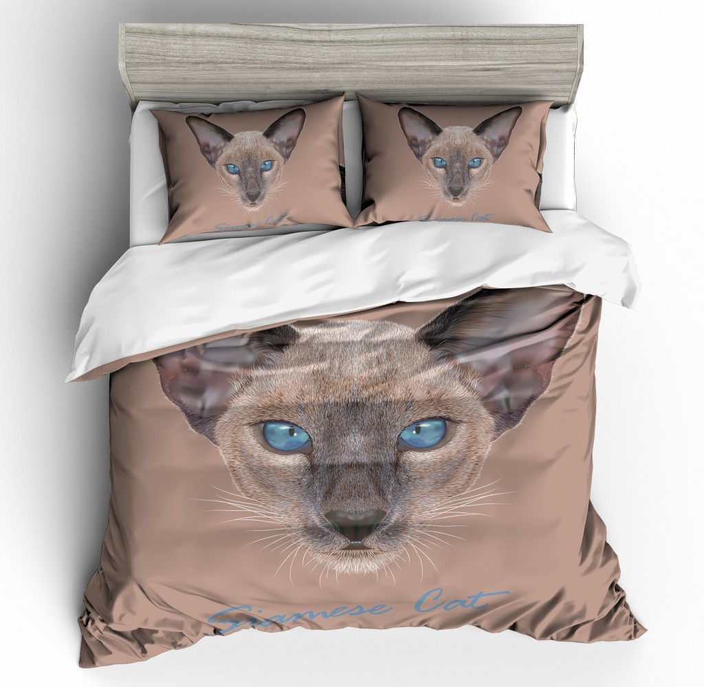3D Cat Printing Bedding Set Duvet Cover Pillowcases 2019 Spring QH32 Comforter Covers Dog Animal Single Double Queen King Size3D Cat Printing Bedding Set Duvet Cover Pillowcases 2019 Spring QH32 Comforter Covers Dog Animal Single Double Queen King Size