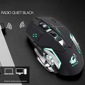 Image 1 - X8 Wireless Rechargeable Game Mouse Silent Illuminated Mechanical 1800Dpi 2.4G USB Wireless 7 Color Mouse A6