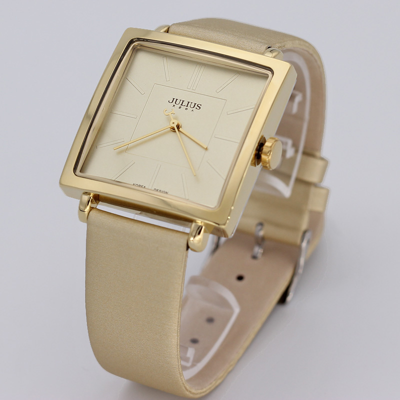 ФОТО Lady Women's Watch Japan Quartz Hours Clock Fine Fashion Dress Bracelet Band Leather Simple Square Girl Birthday Gift Box 354
