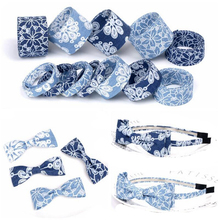 New Burned Flower Denim Ribbon Handmade Bow Hair Accessories DIY Craft Material Wedding Party Decorative Gift Warrping 10 Meters