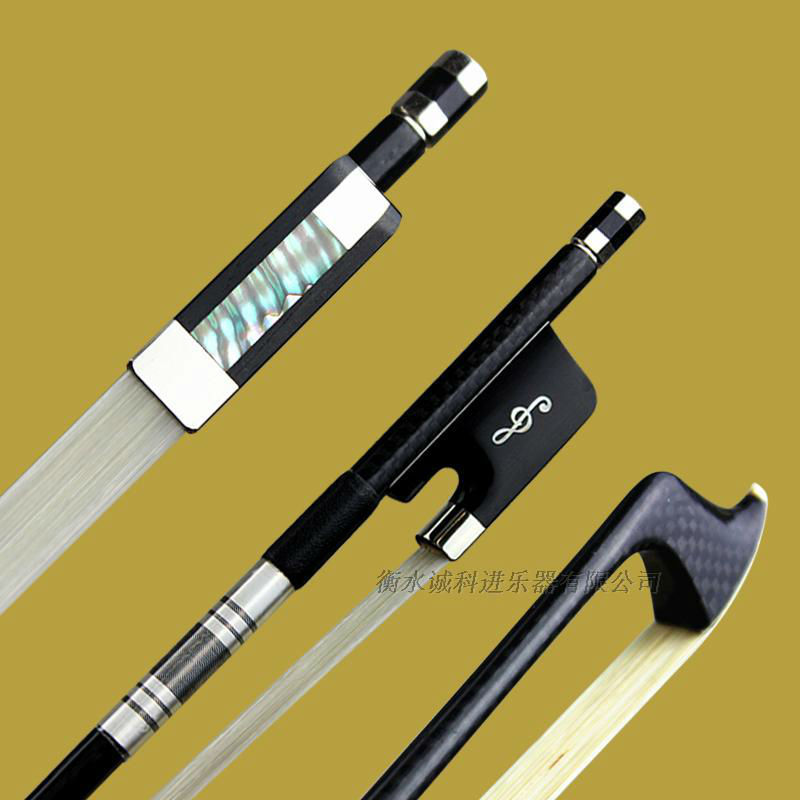 1 Pc Professional Plaid Carbon Fiber 4/4 Cello Bow Good Balance Nataul White Horsehair Ebony Frog Round Stick Free Shipping