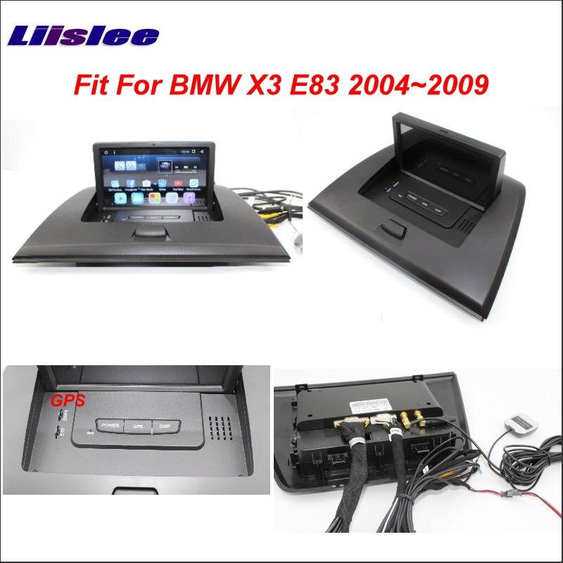 Système de Navigation de carte GPS GPS de voiture Liislee pour BMW X3 E83 2004 ~ 2009 Radio stéréo Audio vidéo multimédia (pas de lecteur DVD)