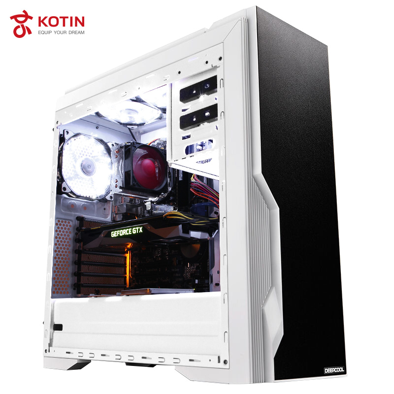 GETWORTH R30 Gaming Desktop <font><b>Intel</b></font> Core <font><b>I7</b></font> 8700 Computer ASUS B360M mATX GeFore GTX 1070 Corsair 16G Memory DDR4 240G SSD 1TB HDD image