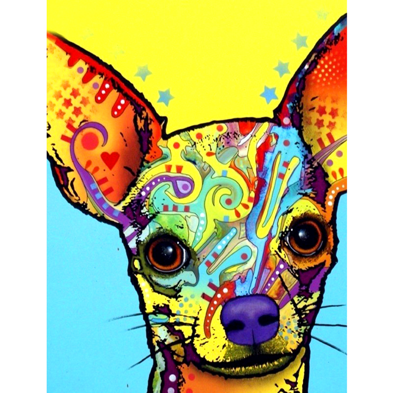 Full Square/Round Drill 5D DIY Diamond Painting Colorful dog 3D Embroidery Cross Stitch 5D Rhinestone Home Decor giftFull Square/Round Drill 5D DIY Diamond Painting Colorful dog 3D Embroidery Cross Stitch 5D Rhinestone Home Decor gift