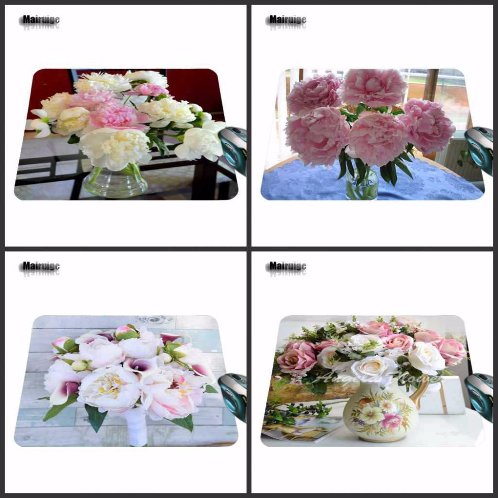 Mairuige New Arrival Flower Pattern Gaming Rectangle Silicon Durable Mouse Pad Computer Mouse Mat 180*220*2mm