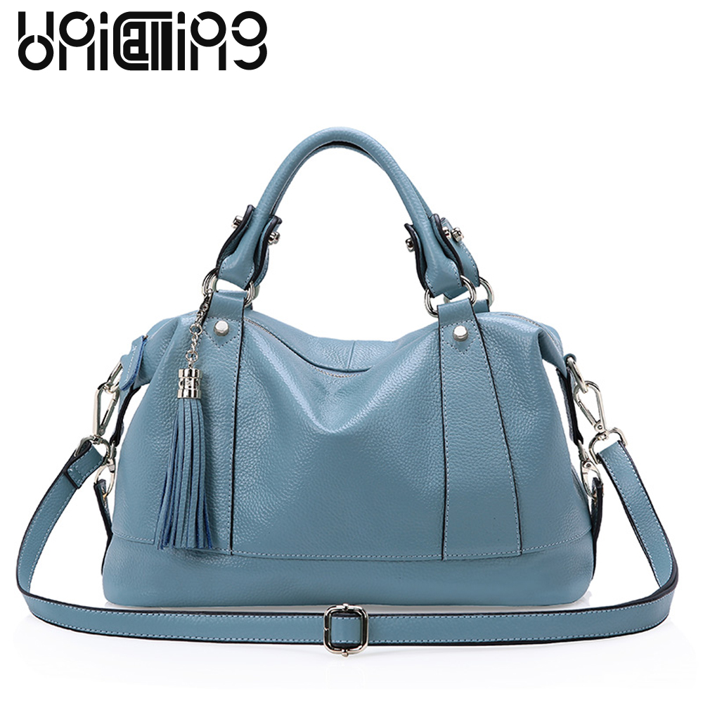 New style Fashion genuine leather bags for women Large capacity crossbody shoulder bag cow leather big women handbags