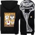 New winter Dogs hoodie Anime Shiba Inu hoodied Coat Men Women Thicken cotton Sweatshirt  cartoon