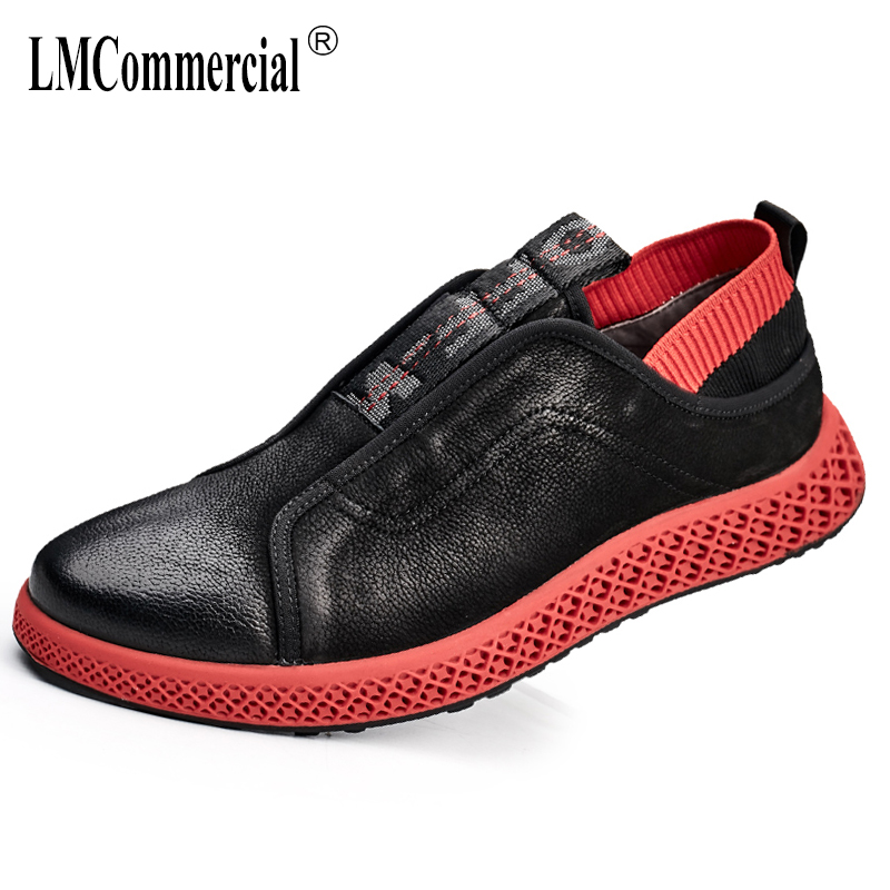 2018 spring genuine leather men's shoes breathable casual shoes men British retro fashion shoes male Leisure spring and autumn 2017 men shoes fashion genuine leather oxfords shoes men s flats lace up men dress shoes spring autumn hombre wedding sapatos