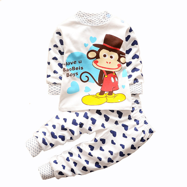 255634370 baby boy night suits animal print underwear set toddler girl ...