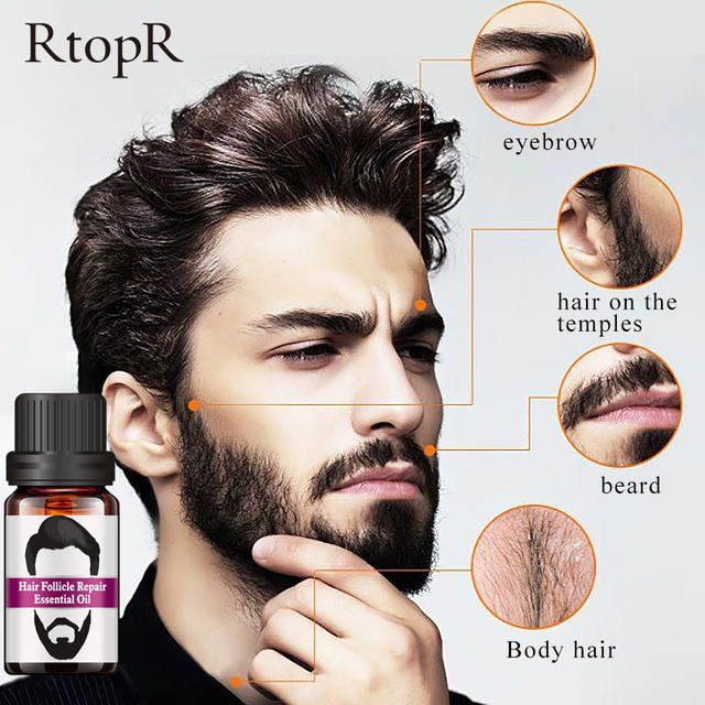 2PCS Hair Follicle Repair Oil Styling Moustache Moisturizing Oil Growth Of Beard Body Hair Eyebrow Care Smoothing Oil 10 ml 5