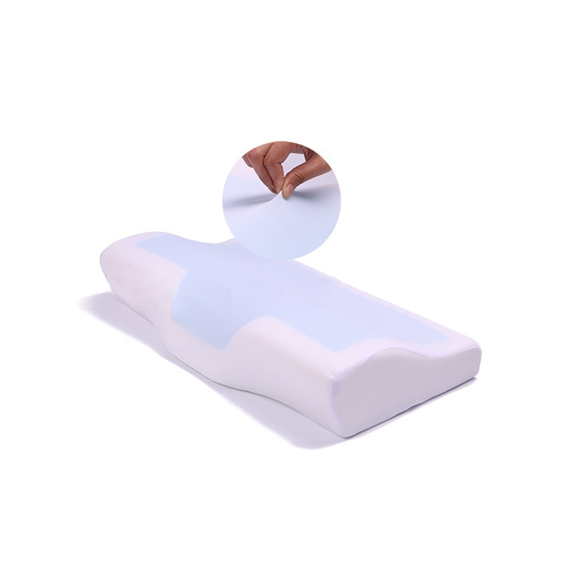 50 30cm Silicone Gel butterfly shape sleeping Cushionpillow Summer Cooling Memory Foam Orthopedic neck Massage Pillow wholesale in Decorative Pillows from Home Garden