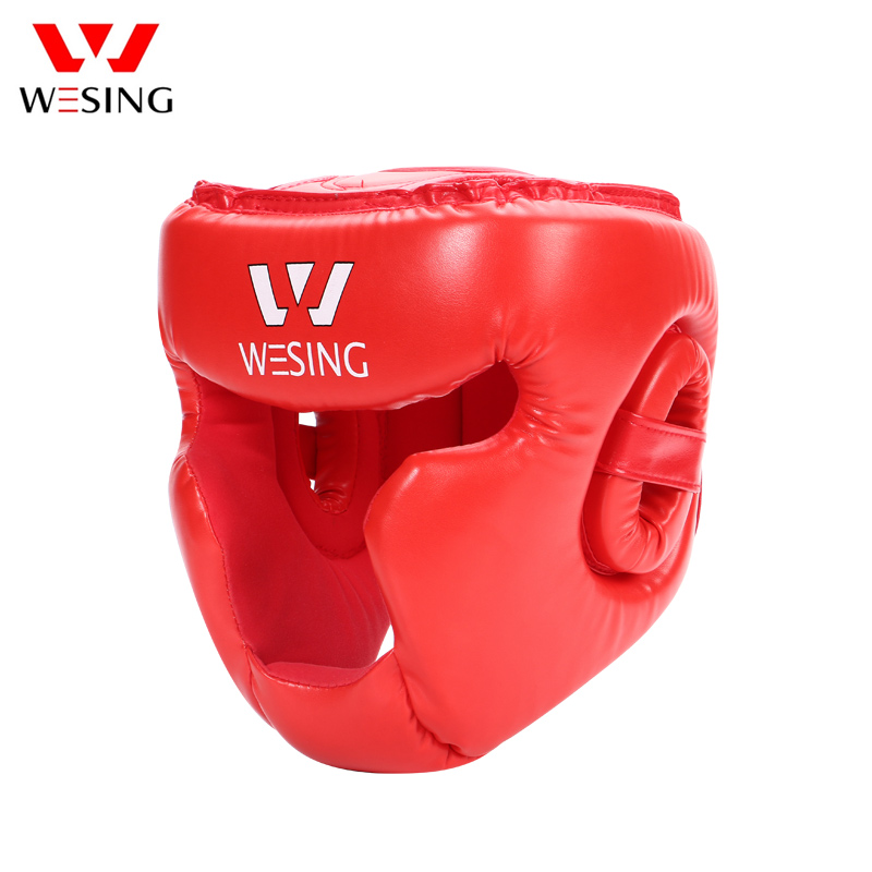 Wesing Pro Style Boxing Fighting Kickboxing Head Protector Muay Thai Martial Art Head Guard Protective Head Gears Sport Helmets