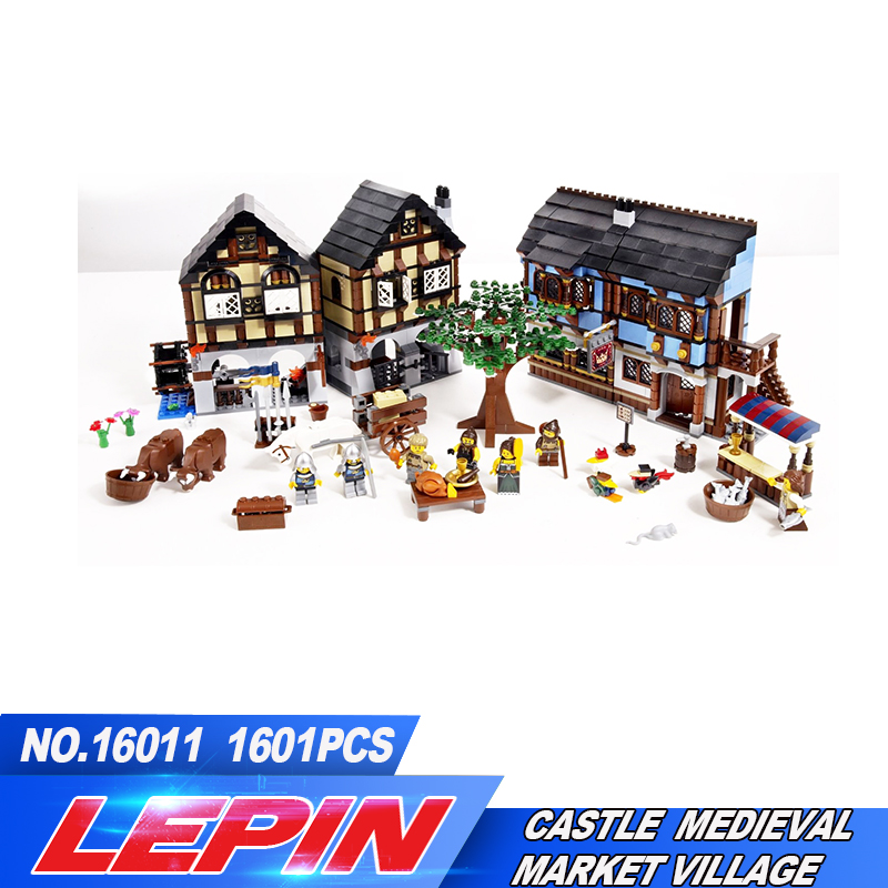 2017 LEPIN 16011 1601Pcs Castle Series The Medieval Manor Castle Set Educational Building Blocks Bricks Model Toys Gift 10193 lepin 16017 castle series genuine the king s castle siege set children building blocks bricks educational toys model gifts