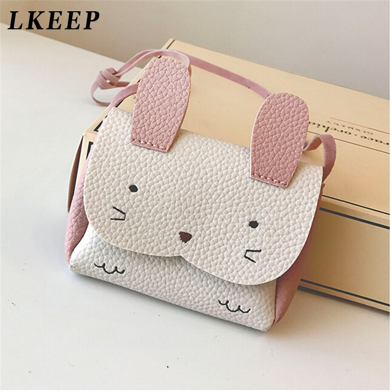 New Hot Sale Girls PU Coin Purse Bag Kids Rabbit One Shoulder Bag Small Coin Purse Change Wallet Kids Bag Messenger Bag