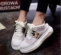 20.. 2016 Корейский летом радуга Плоский белый женская обувь Чистая ткань Повседневная холст обувь студенты прилив обувь Одного