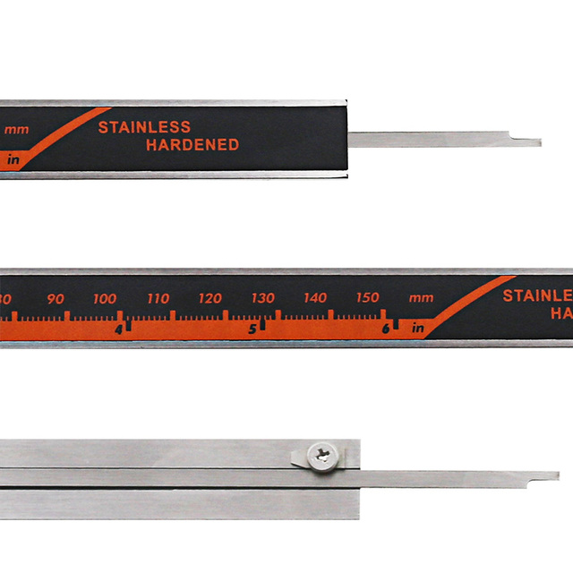 Stainless Steel Digital Display Caliper 150mm Fraction MM Inch High Precision Stainless Steel LCD Vernier Caliper