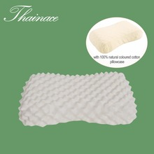 Thainace Natural Latex Orthopedic Pillow Women Message Latex Foam Bed Sleeping Pillow Care for Neck Head