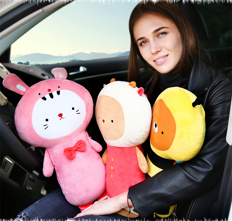 1 Pcs 50*23cm Cartoon Children Cute Car Interior Supplies Seat Belt Cover Shoulder Guard Pad Extended Version Safety Belt Pillow