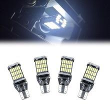 2 шт супер яркий T15 W16W 45 SMD светодиодный 4014 Авто Canbus Габаритные Фары Светильник для чтения Интерьер лампы освещения автомобиля укладки