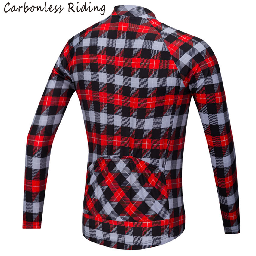 c1e2c7e84 Red Blue Plaid Men s Cycling Jersey Long Sleeve Quick Dry Bicycle Clothing  Cycling Wear Shirt MTB Jerseys Tops for Spring Autumn-in Cycling Jerseys  from ...