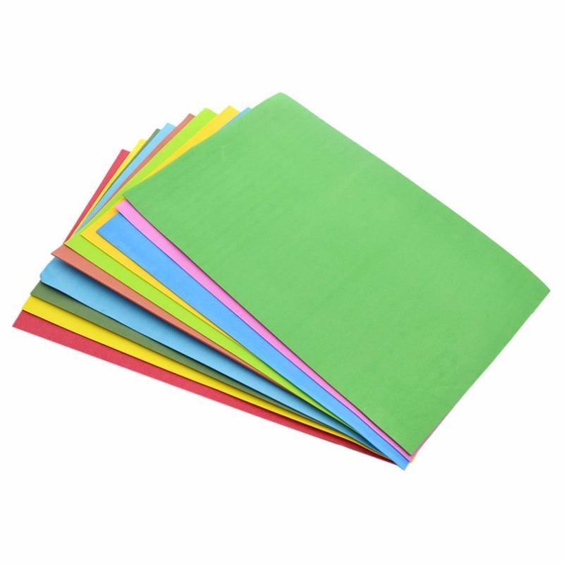10 unids/lote, precio más bajo, 10 colores A4, espuma gruesa Multicolor, papel, libro de recortes, bricolaje artesanía de papel 21*29,7*0,1 cm