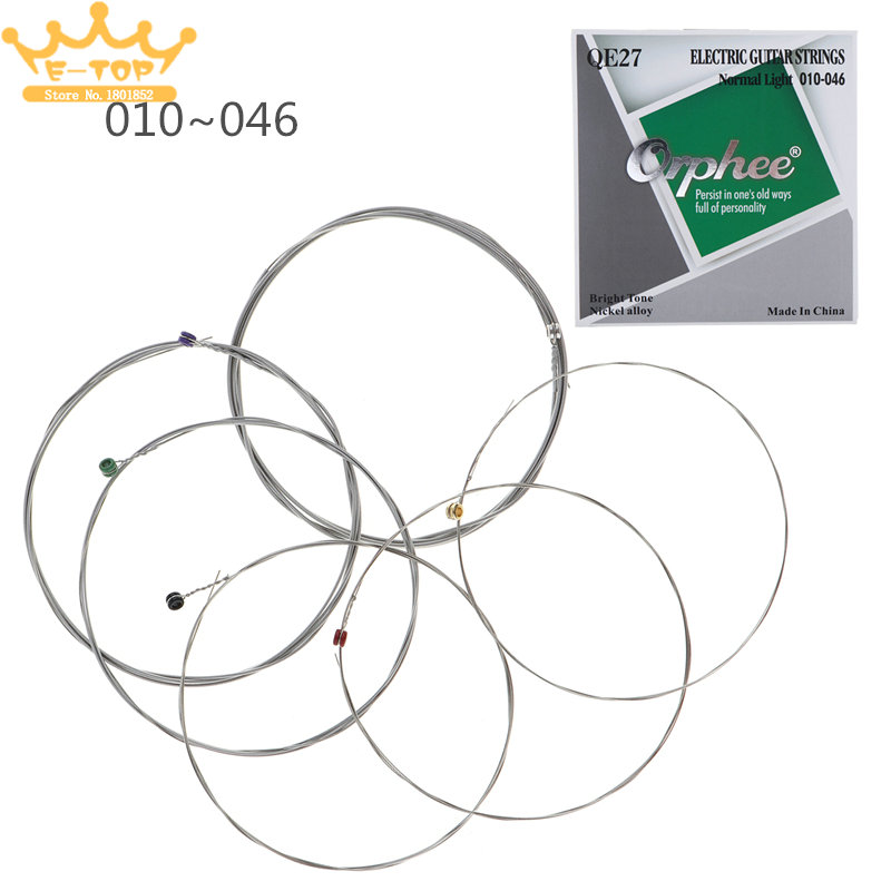 6pcs electric guitar nickel alloy string normal light 010 046 bright tone string in guitar parts. Black Bedroom Furniture Sets. Home Design Ideas