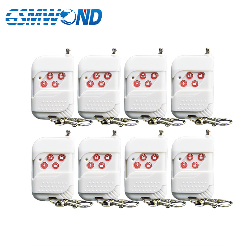 8pcs White wireless remote control sensor for 433mhz High quality GSM alarm system