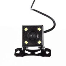 4 светодио дный лампы ночного видения обратная камера HD CDD заднего вида Камара объектив мм 2,5 мм Джек с 6 м кабель для автомобиля dvr зеркальные рекордеры