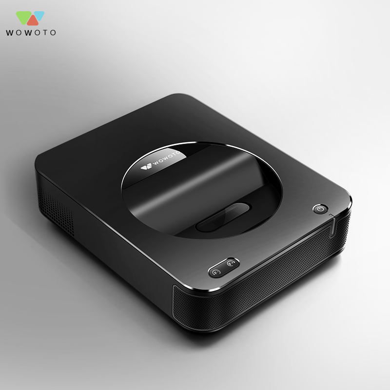 WOWOTO Black Short focus Projector 1500 Lumens Large memory Home Mini pico projector Electric focusing Projector