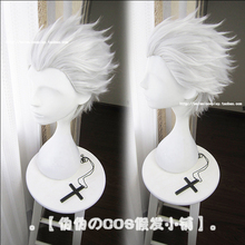 FGO Fate Extra Last Encore EMIYA Cosplay Wig Archer No Name Synthetic Hair Silver Grey + Wig Cap