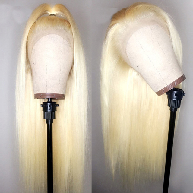 #613 Pre Plucked Glueless Full Lace Human Hair Wigs Straight with Baby Hair Around Free Part Brazilian Remy Hair Wig