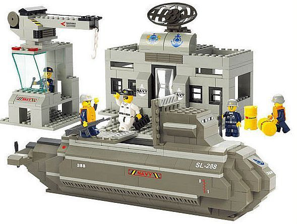 Sluban Military Series Nuclear Submarine And Service Stations Model Building Blocks Toys For Children Compatible With Legoe Sets sluban military series nuclear submarine and service stations model building blocks toys for children compatible with legoe sets