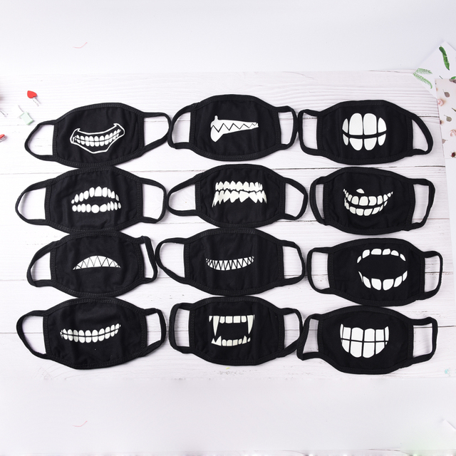 1Pc Mouth Mask Light In The Dark Anti Dust Keep Warm Cool Mask Cartoon Mouth Muffle Face Mask Emotiction Masque Kpop Masks 1