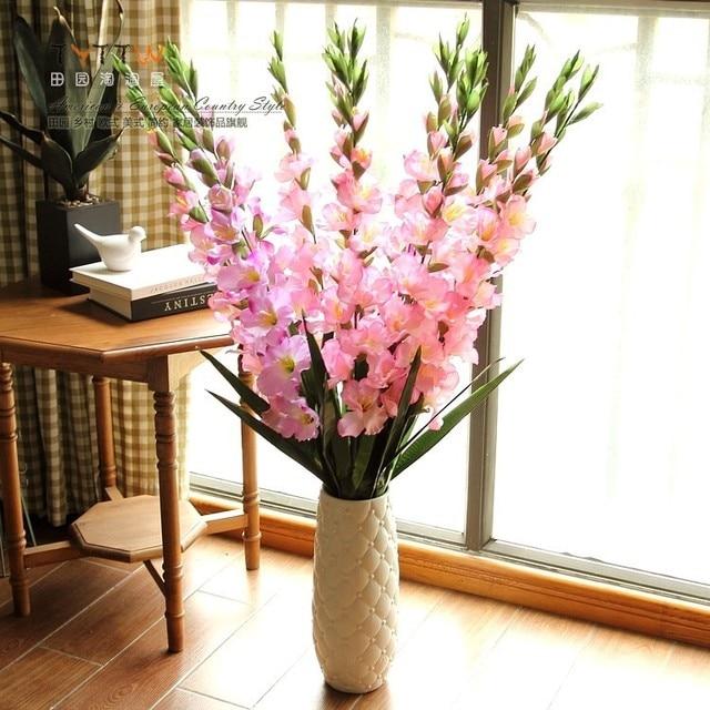 Hias Bunga Simulasi Ke Ruang Tamu Kering Anggrek Sutra Buatan