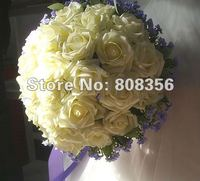 2pcs High Quality Elegant Pe Foam Artificial Simulation Flower Bridal Bouquet Bridal S Flower Rose Ball