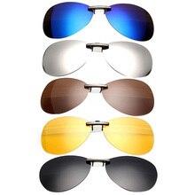 Мужские Женские поляризованные солнцезащитные очки с клипсами для вождения ночного видения анти UVA Анти зажимы в виде солнцезащитных очков для верховой езды