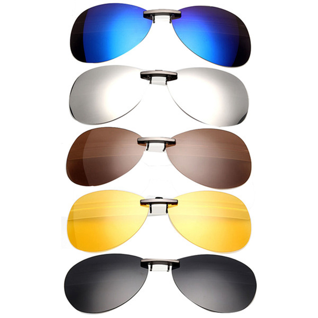 Hot Sell Mens Womens Polarized Clip On Sunglasses Driving Night Vision Anti UVA Anti Sunglasses Clips Riding