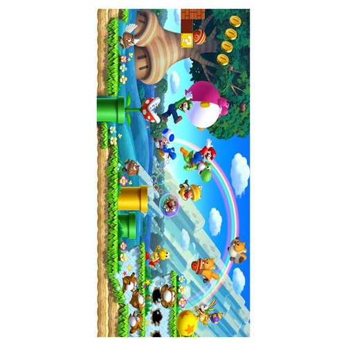 classic game boy super mario printed soft bamboo microfiber towel