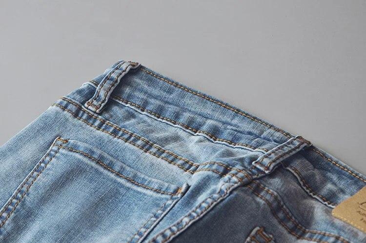 Women vintage low waist washed jeans elastic skinny flare