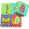 10 pçs/set 30*30 cm Puzzle Tapete Esteira Do Jogo Do Bebê Chão Tapete De Espuma Esteira do Enigma de EVA das Crianças Mosaico piso Tapetes Crawling Desenvolvimento