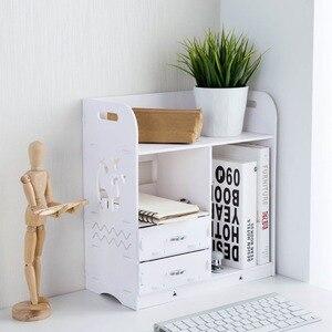 Image 2 - OTHERHOUSE עץ שולחן עבודה מדף אחסון מדף מדפי מקרה תיבת ספר מחזיק עם מגירות איפור מארגן תצוגת עיצוב הבית