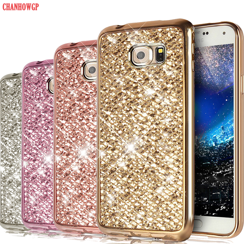 Bling Glitter Soft Case for Samsung Galaxy A6 A8 J4 J6 2018 J3 J5 J7 2017 Core J1 A3 A5 2016 S5 Neo S6 S7 edge S8 S9 Plus Funda bình nước detox 500ml