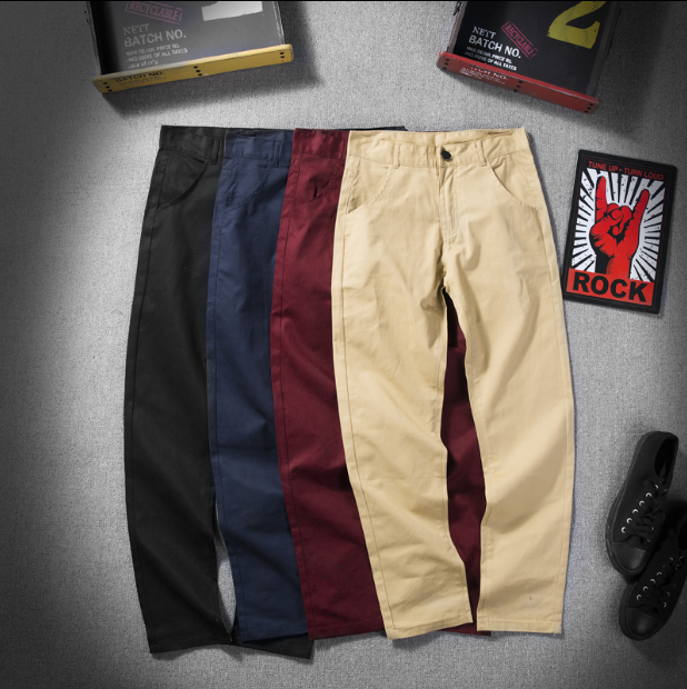 Men's Casual Pants Autumn Fashion Business Casual Style Pants Men Slim Straight Casual Long Pants Fashion Multicolor Men Pants