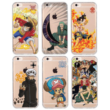 2017 One Piece For Apple iPhone 7 7 Plus Case Silicone Soft Monkey D. Luffy Roronoa Zoro Clear Shell for iPhone 6 6S Phone Cover