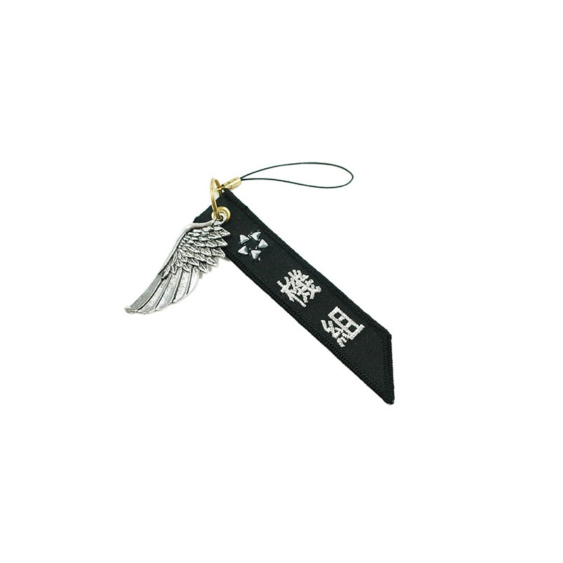 STAR ALLIANCE Luggage bag Tag Black with Metal Silver Wing Gift for Aviation Lover Flight Crew