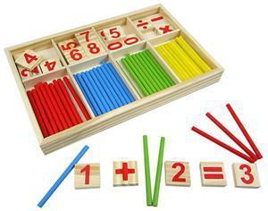 Image 2 - Juguete educativo de madera con número matemático para niños, juguete educativo de madera para aprender a contar Material de chico