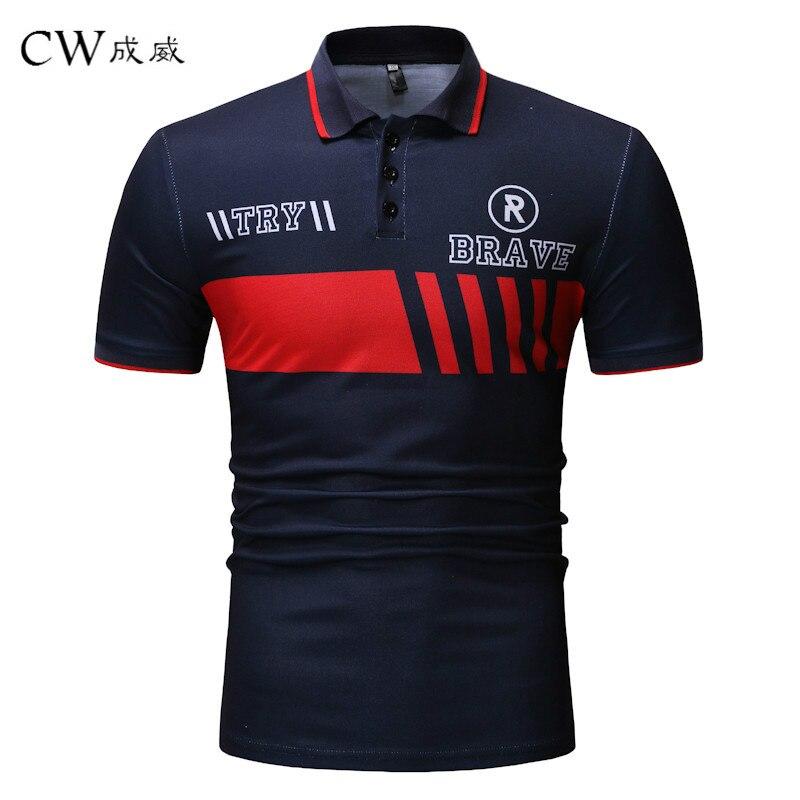Plus Size M-3XL Brand 2019 New Men's   Polo   Shirt High Quality Men Short Sleeve shirt Printing jerseys Summer Mens   polo   Shirts