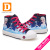Elsa anna niños de princesa girls shoes for kids fashion shoes 2017 Nueva Ice Snow Queen Casual Denim Solo Lienzo Niño zapatillas de deporte