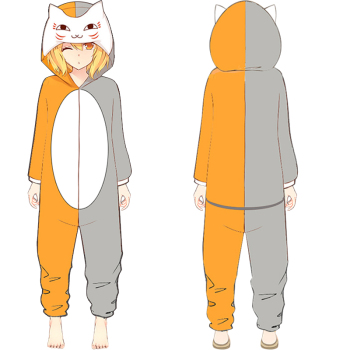 Natsume's Book of Friends Cat teacher Anime Siamese pajamas Winter one-piece pajamas