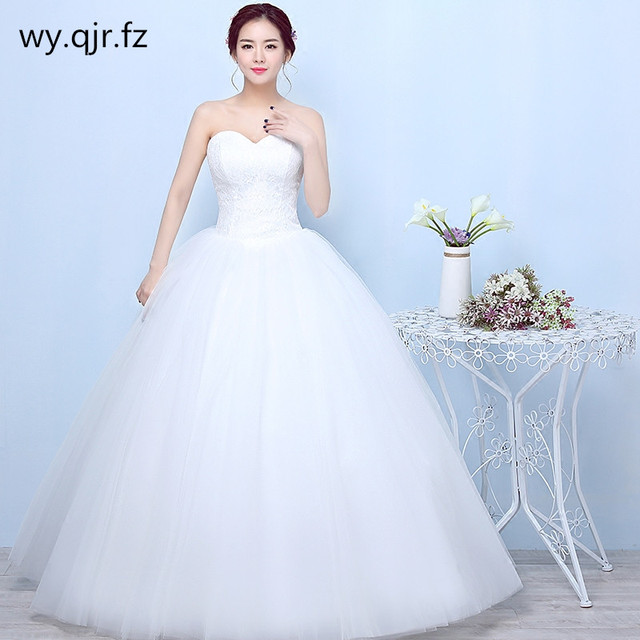 YC-X22 Ball Gown White Lace up Strapless Bride s Wedding Dress Backless  Long dress Cheap Wholesale Women Clothing plus size 2eef24a83092